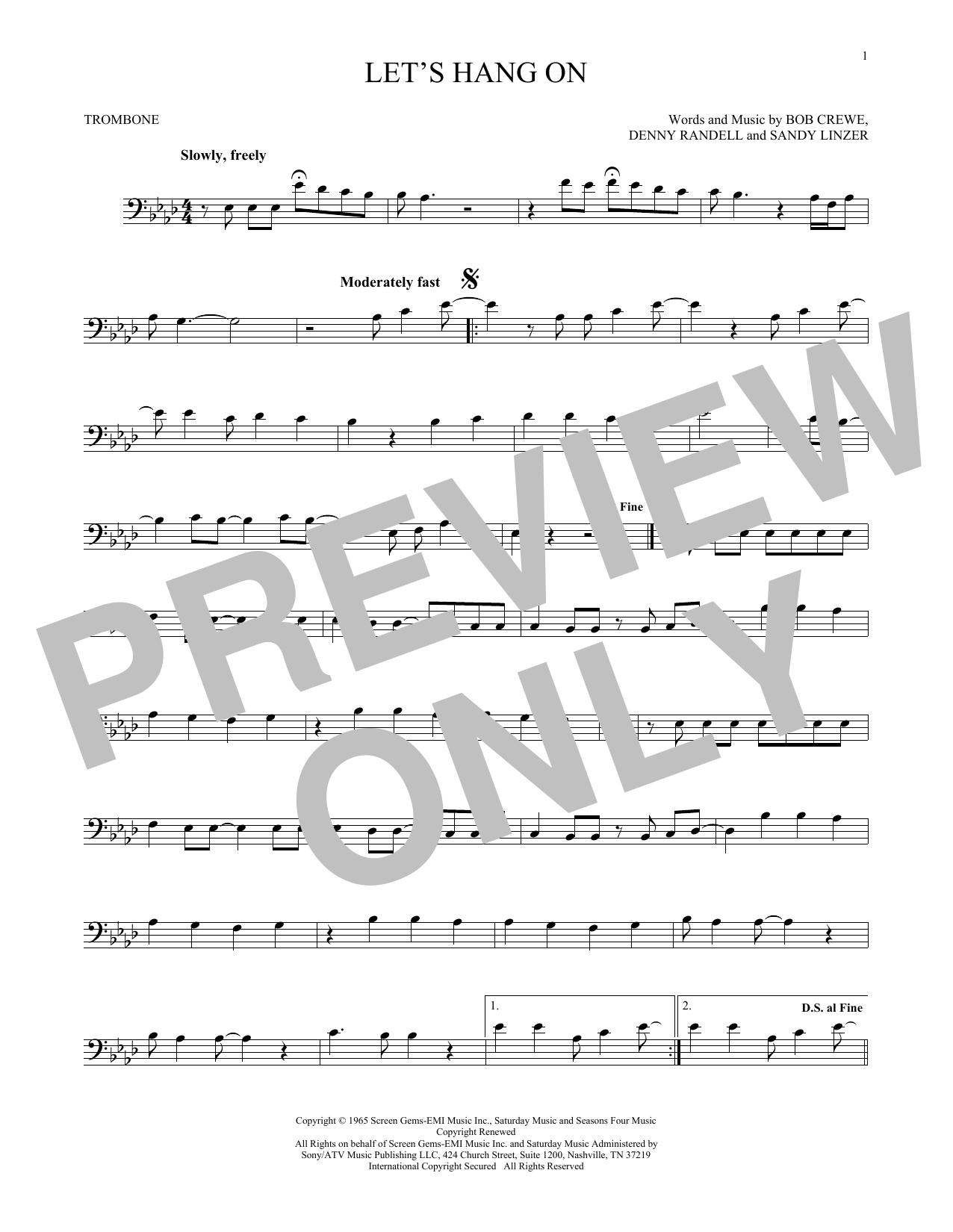 Let's Hang On (Trombone Solo)