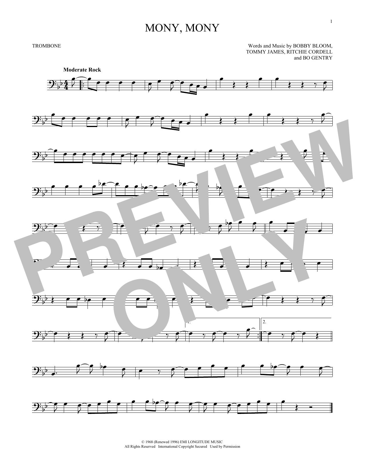 Mony, Mony (Trombone Solo)