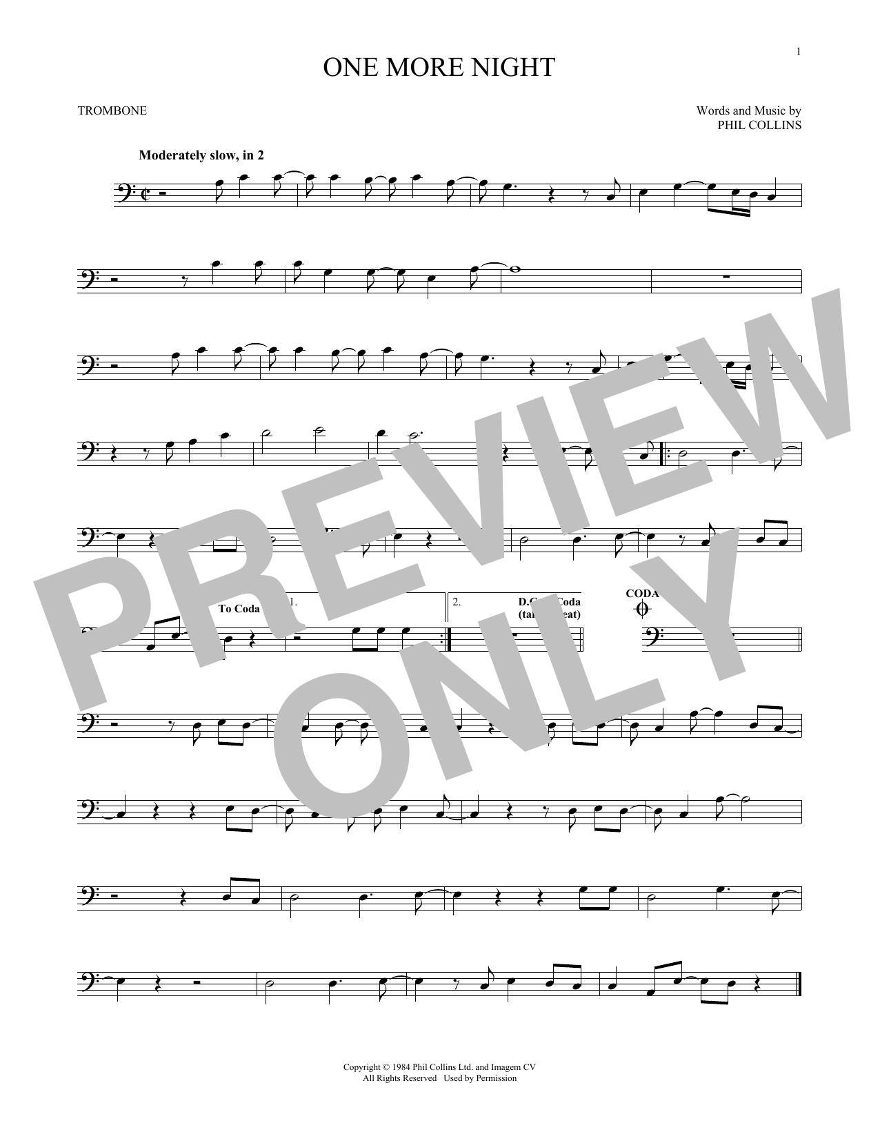 One More Night (Trombone Solo)