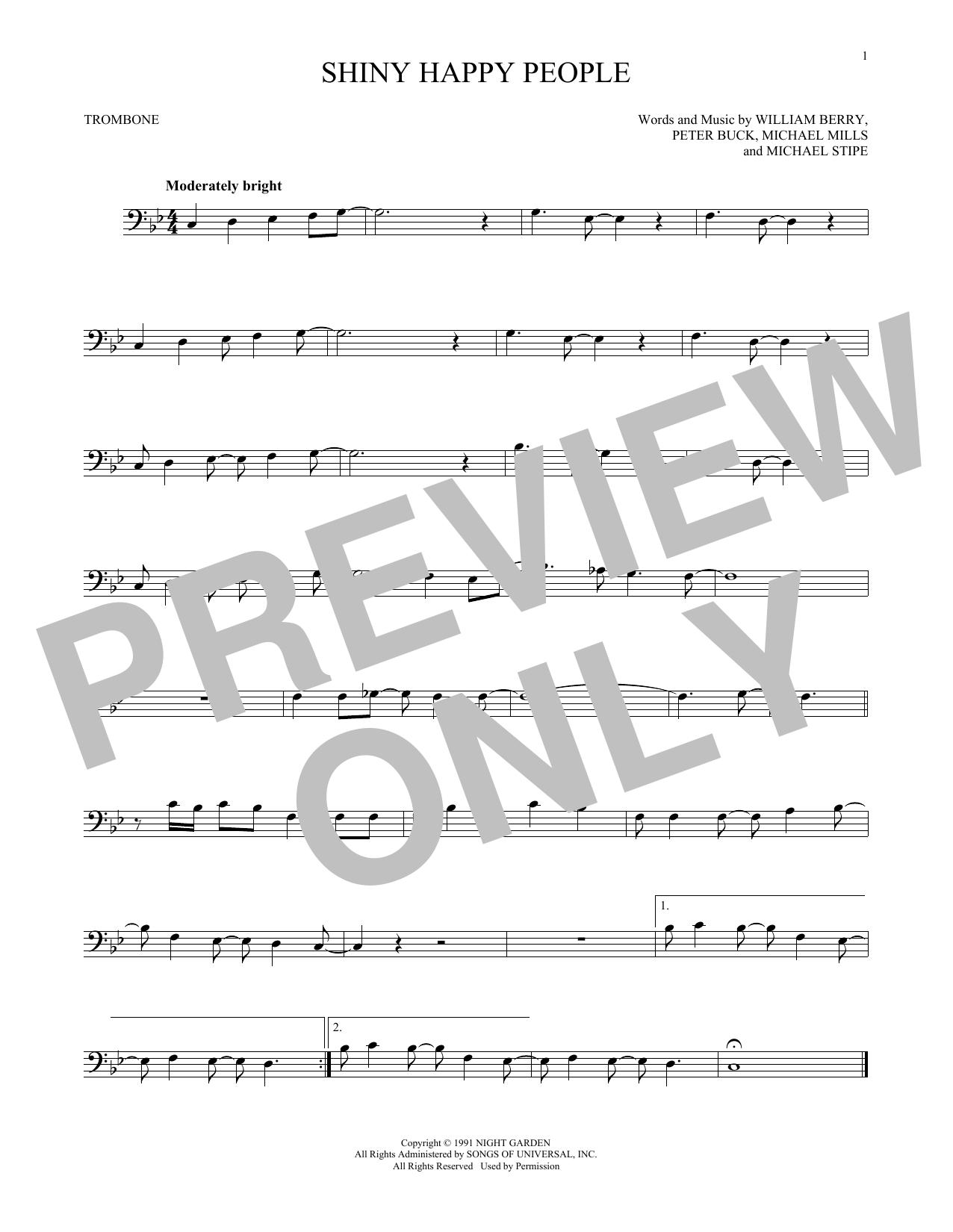 Shiny Happy People (Trombone Solo)
