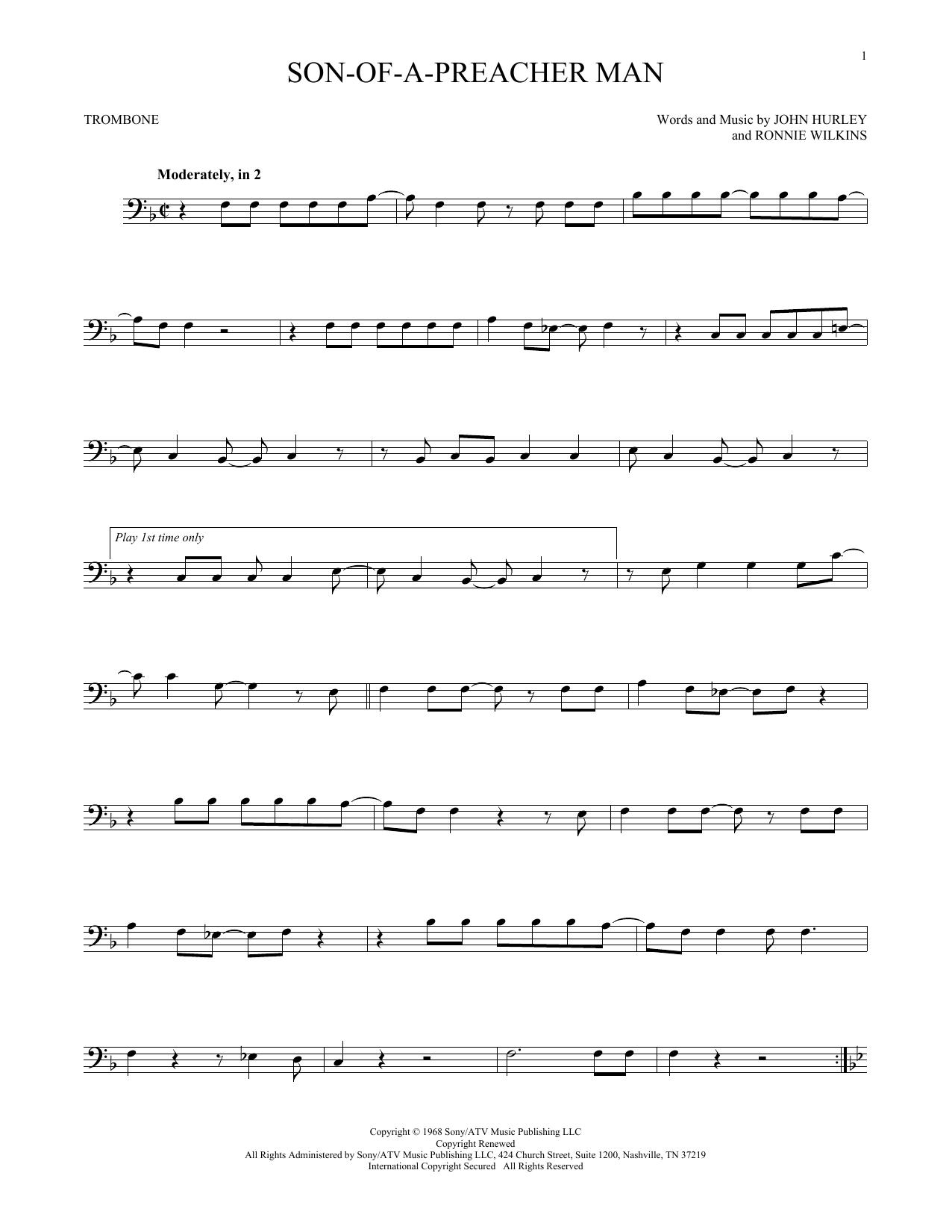 Son-Of-A-Preacher Man (Trombone Solo)