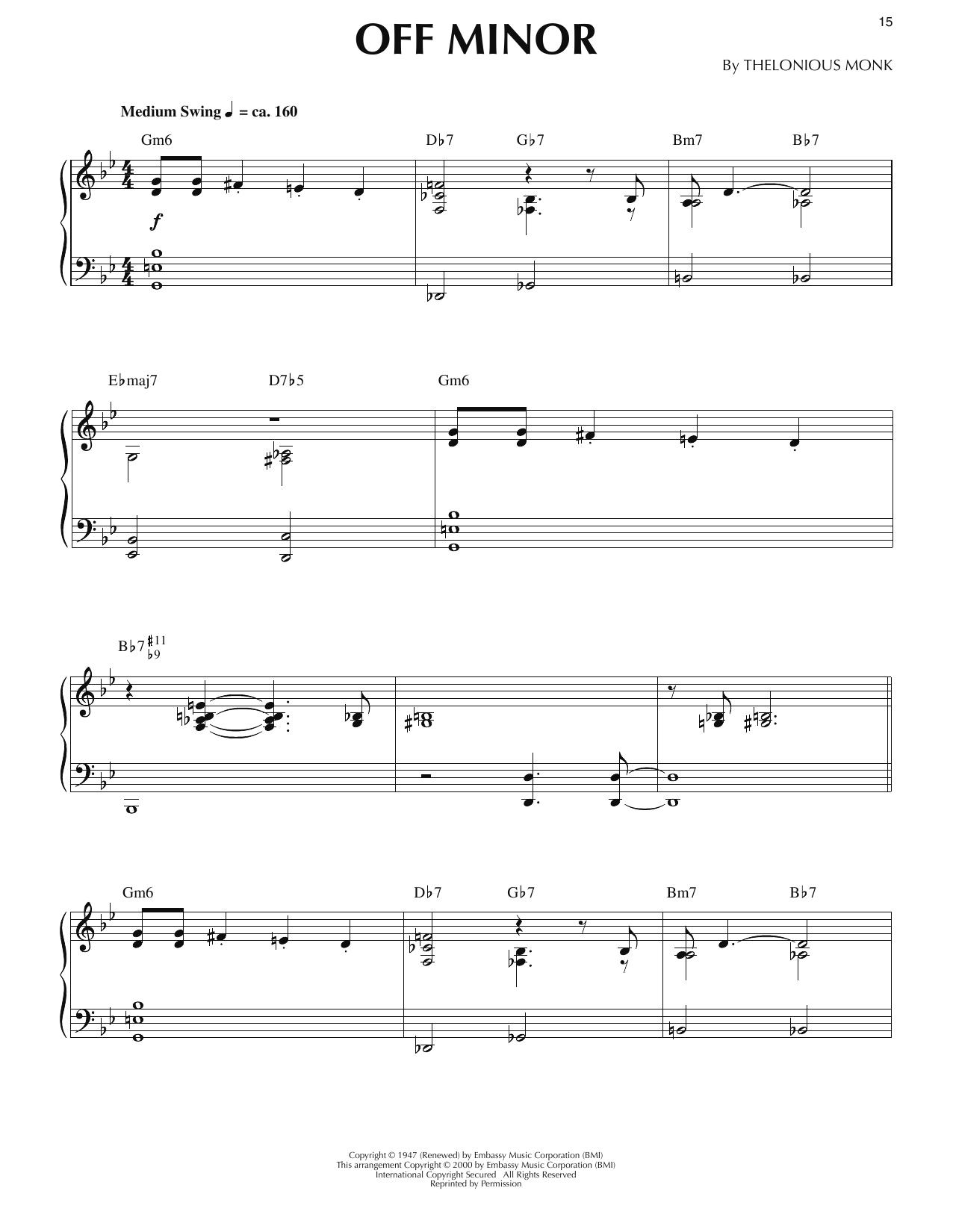 Off Minor Sheet Music