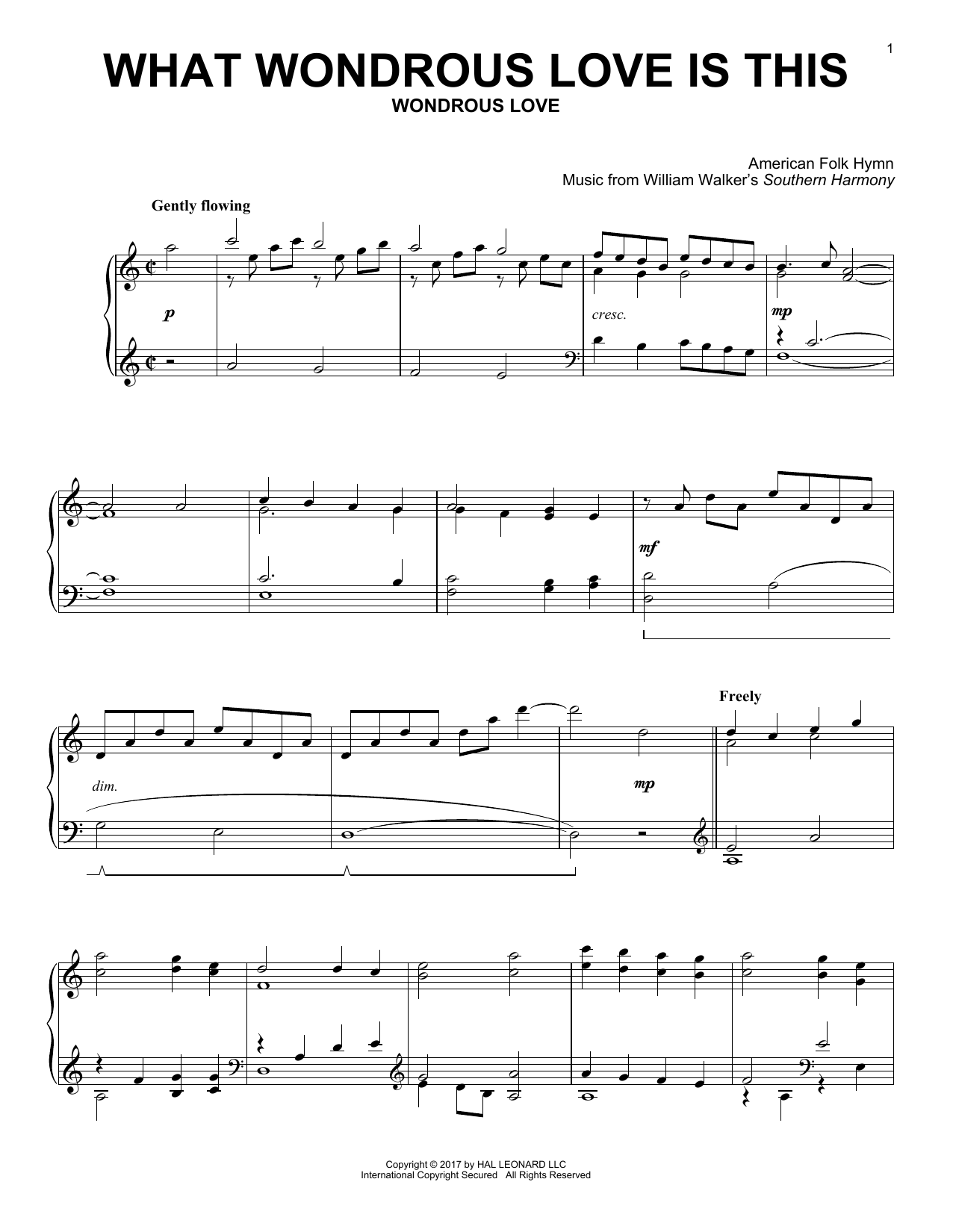 What Wondrous Love Is This (Piano Solo)