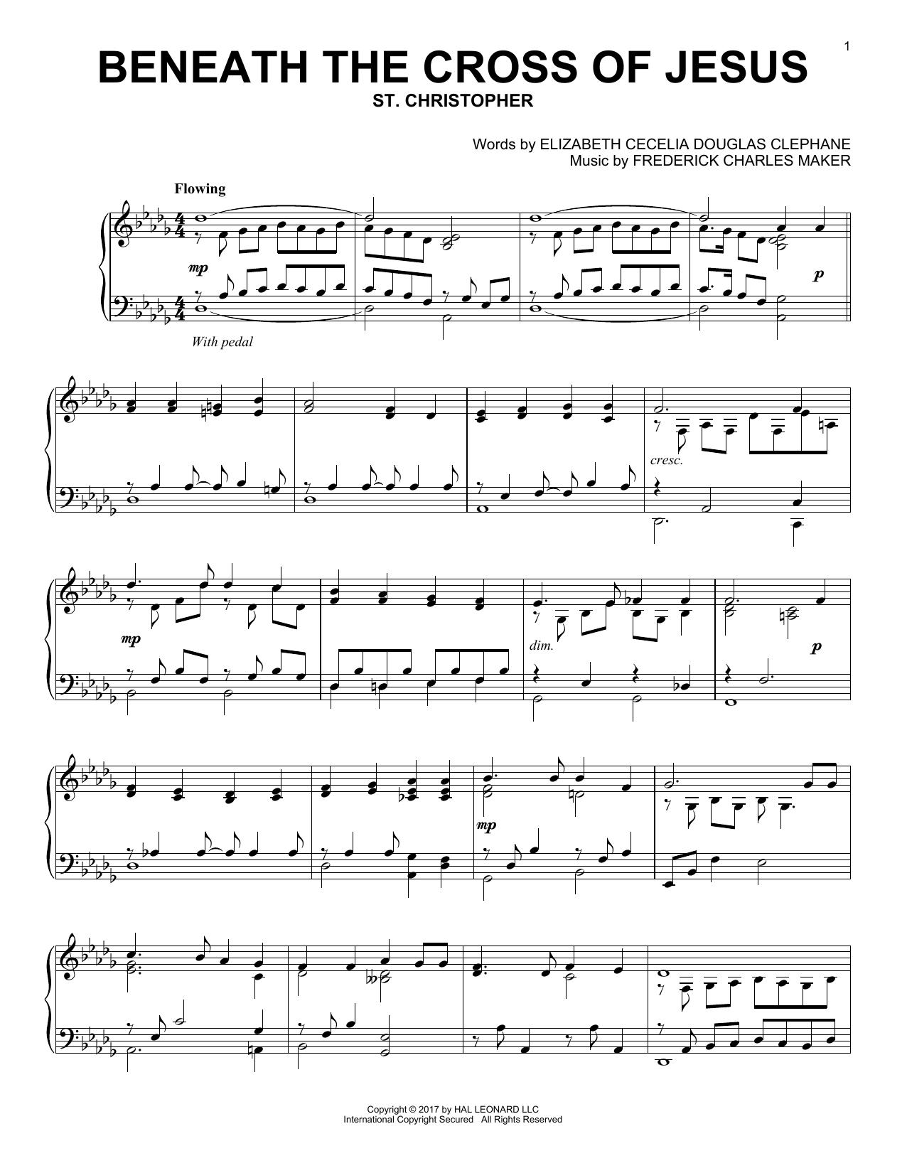 Beneath The Cross Of Jesus (Piano Solo)