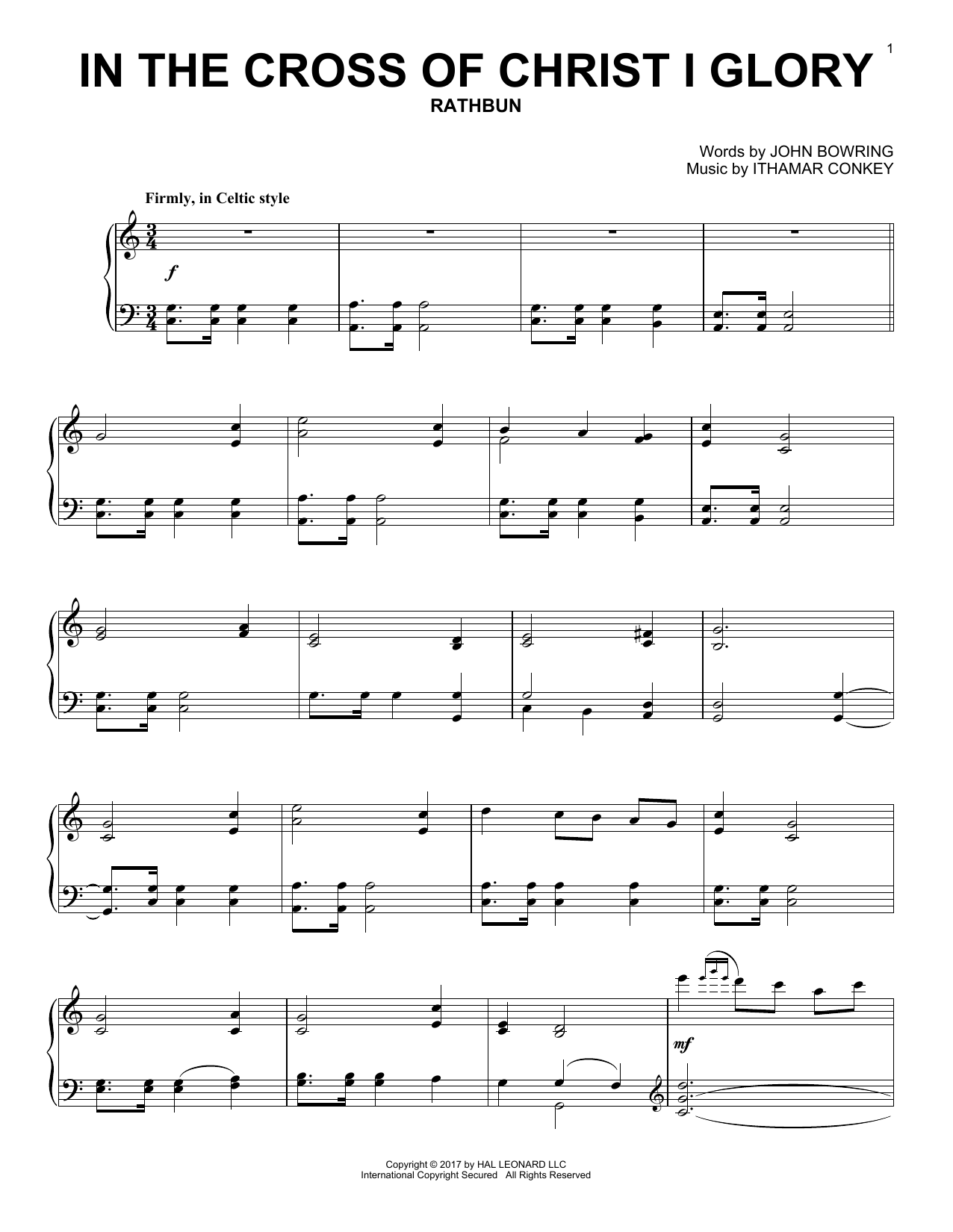 In The Cross Of Christ I Glory (Piano Solo)