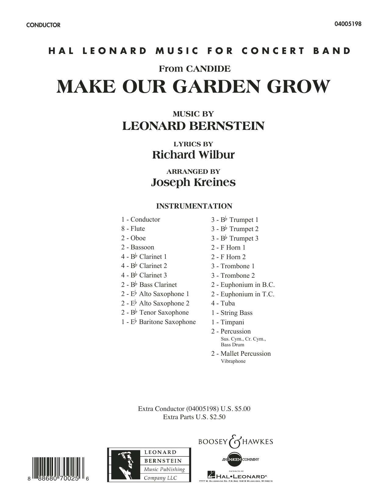 Make Our Garden Grow (from Candide) - Conductor Score (Full Score) (Concert Band)