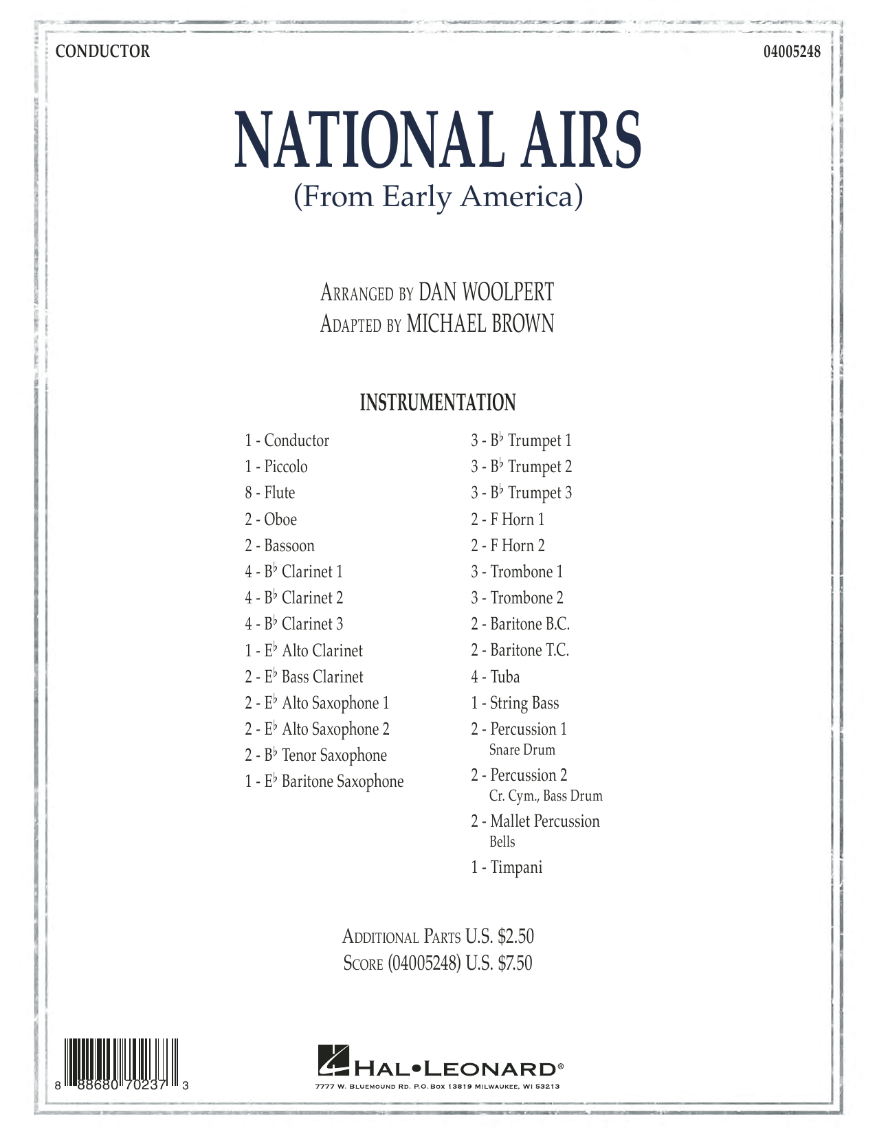 National Airs (from Early America) - Conductor Score (Full Score) (Concert Band)