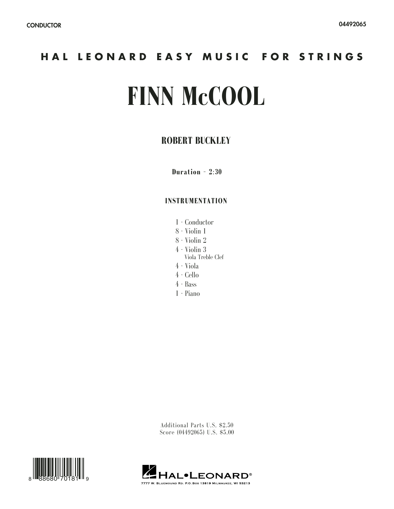 Finn McCool (COMPLETE) sheet music for orchestra by Robert Buckley. Score Image Preview.