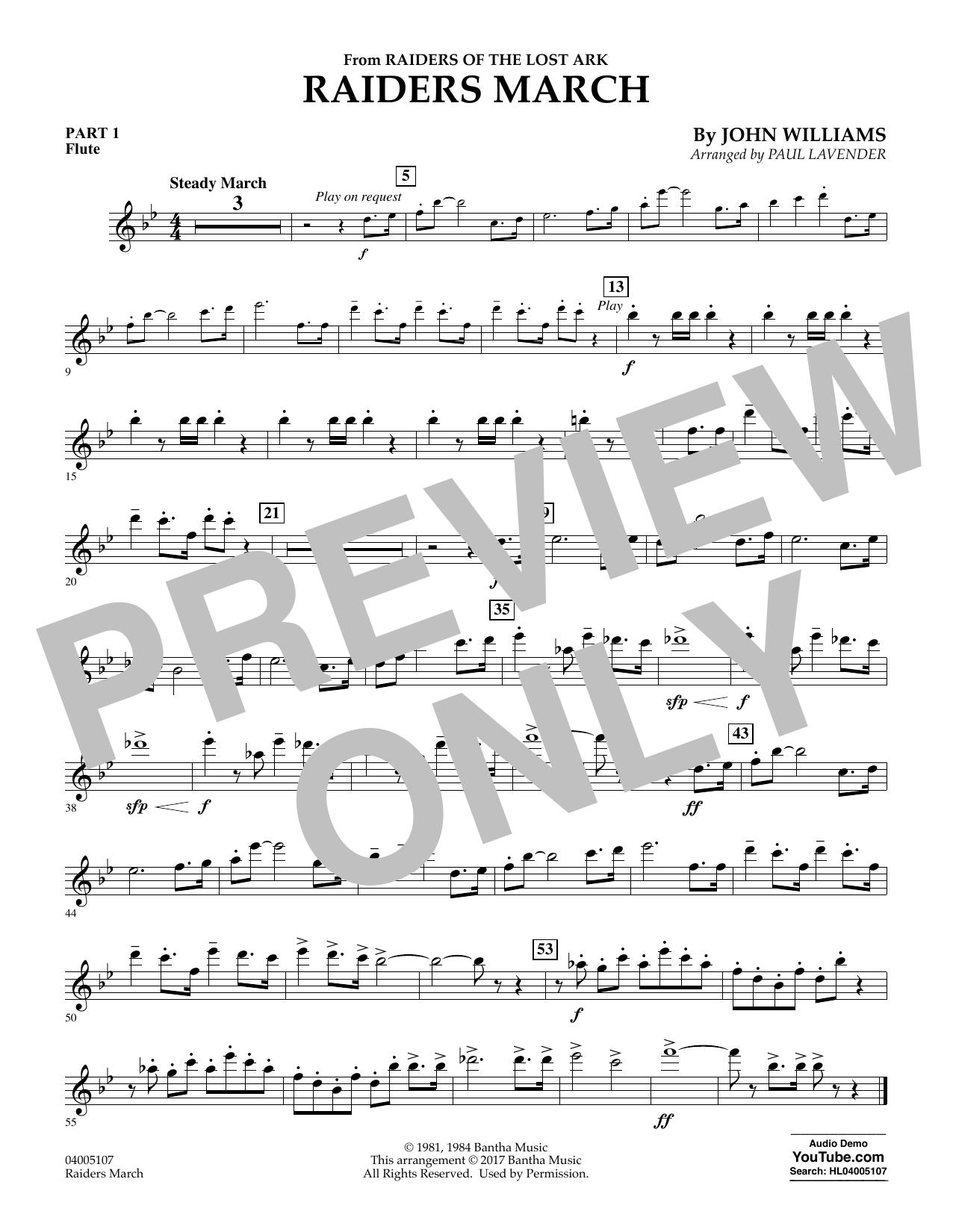 Raiders March - Pt.1 - Flute (Concert Band: Flex-Band)