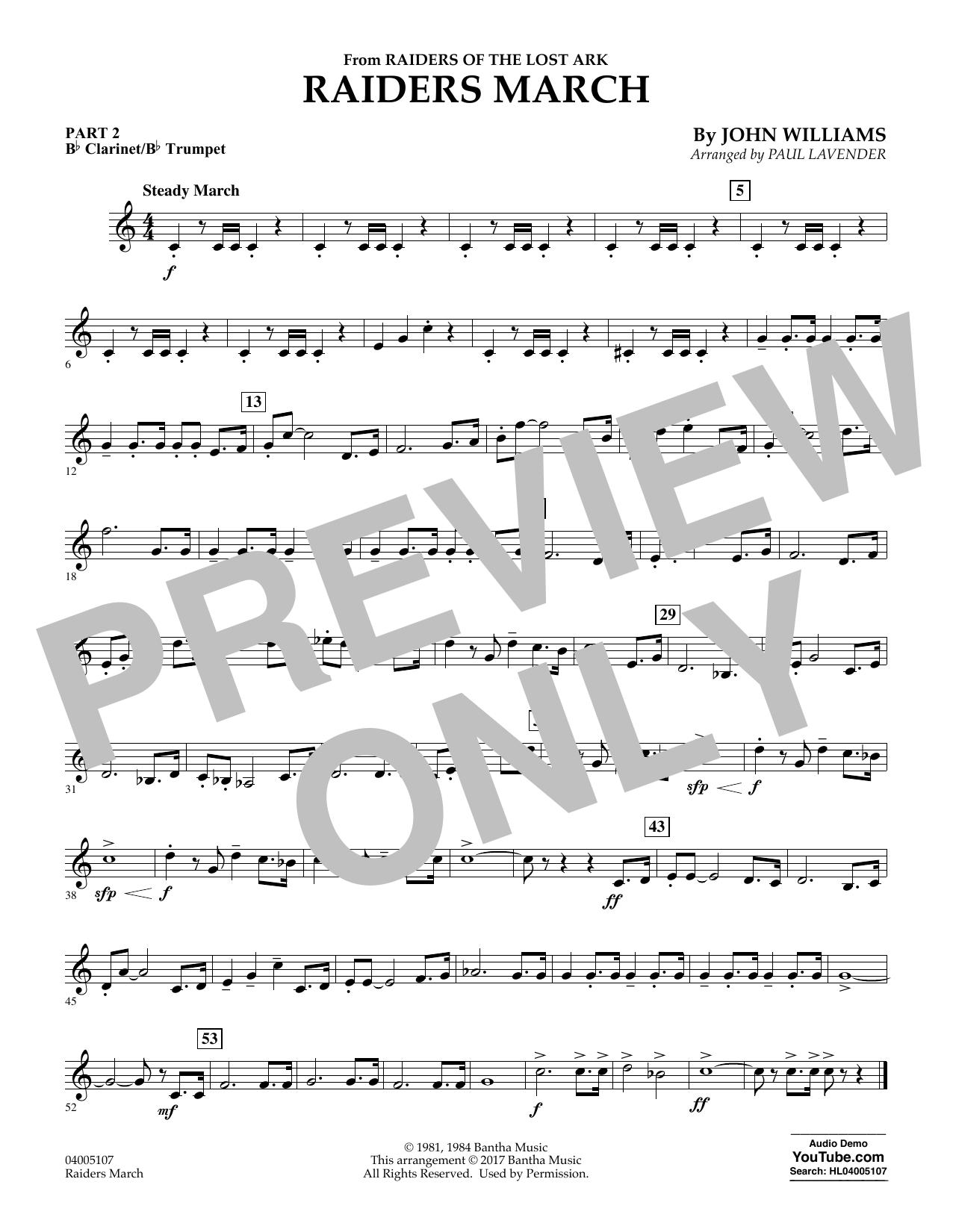Raiders March - Pt.2 - Bb Clarinet/Bb Trumpet (Flex-Band)
