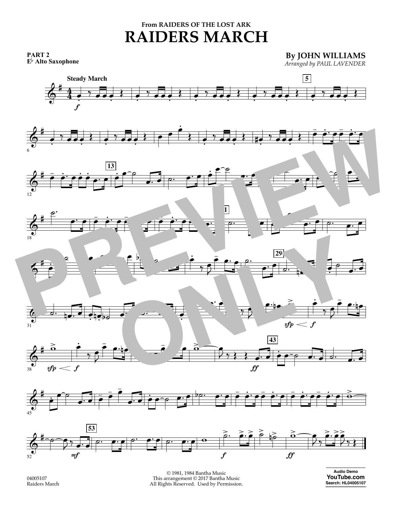 Raiders March - Pt.2 - Eb Alto Saxophone (Flex-Band)