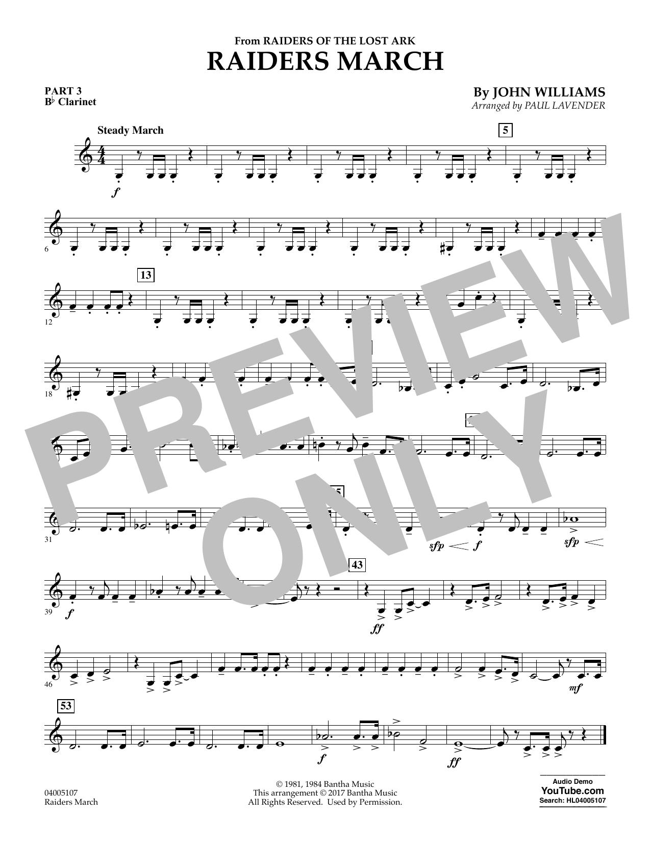 Raiders March - Pt.3 - Bb Clarinet (Flex-Band)