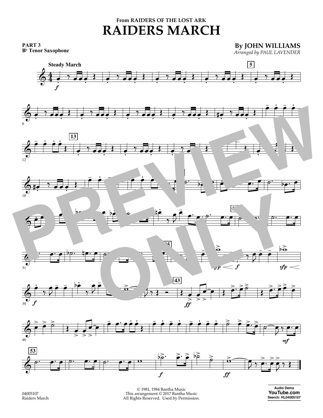 Raiders March - Pt.3 - Bb Tenor Saxophone (Flex-Band)