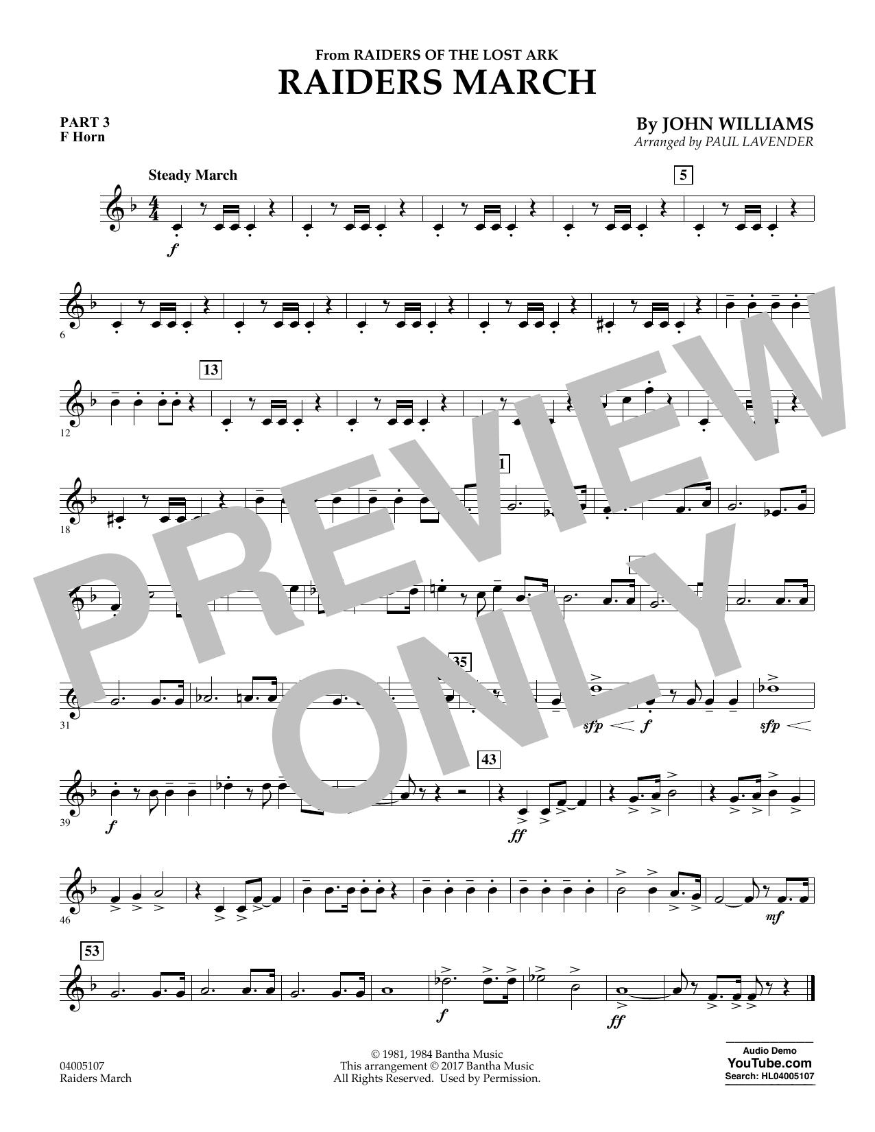 Raiders March - Pt.3 - F Horn (Flex-Band)