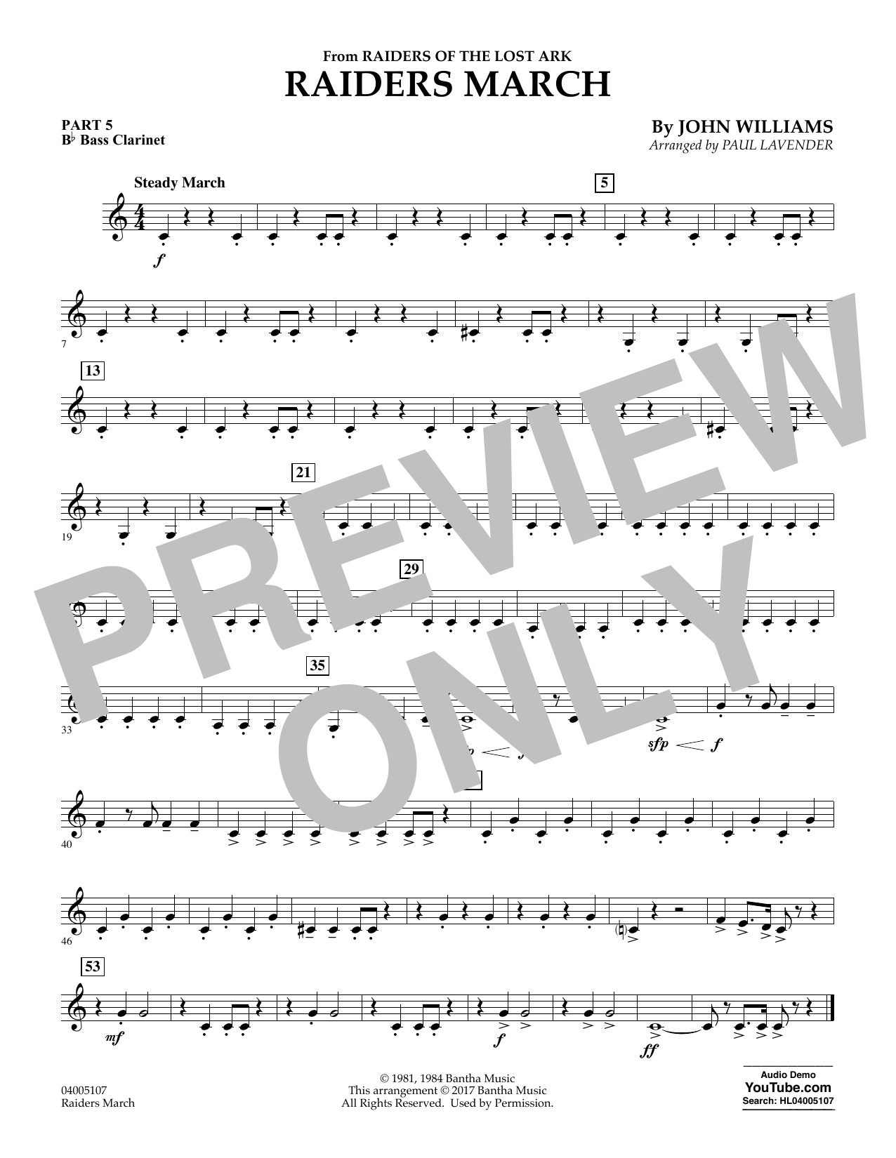 Raiders March - Pt.5 - Bb Bass Clarinet (Flex-Band)