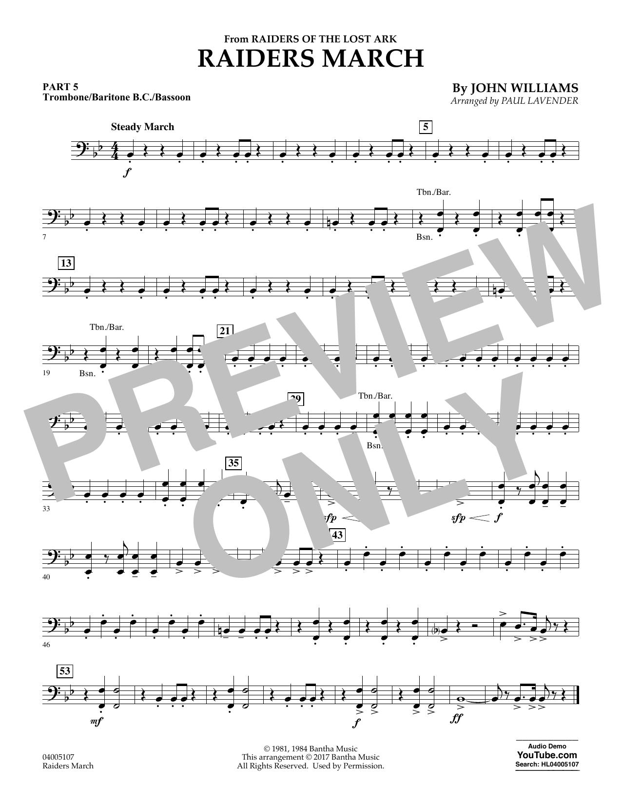 Raiders March - Pt.5 - Trombone/Bar. B.C./Bsn. (Flex-Band)