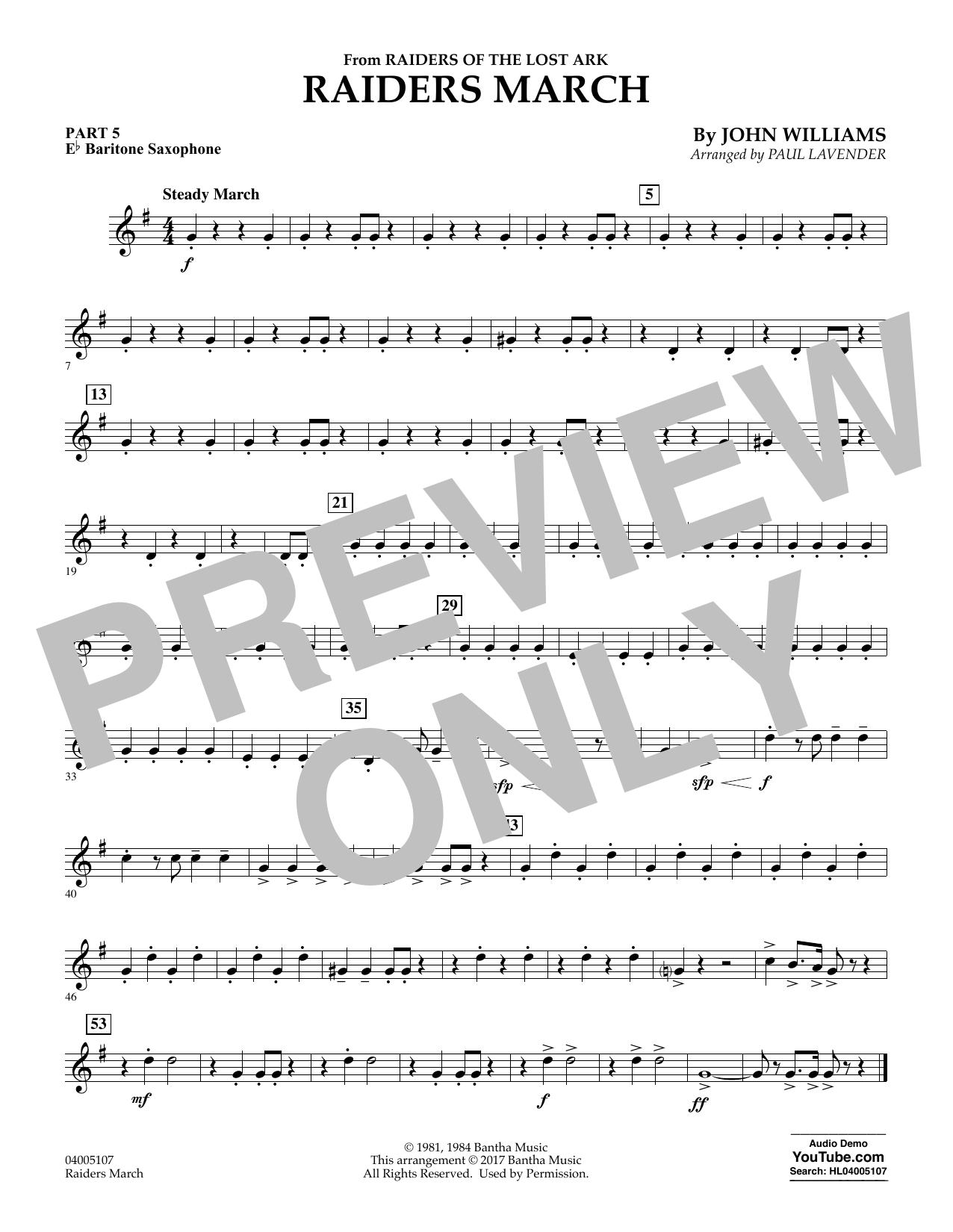 Raiders March - Pt.5 - Eb Baritone Saxophone (Flex-Band)