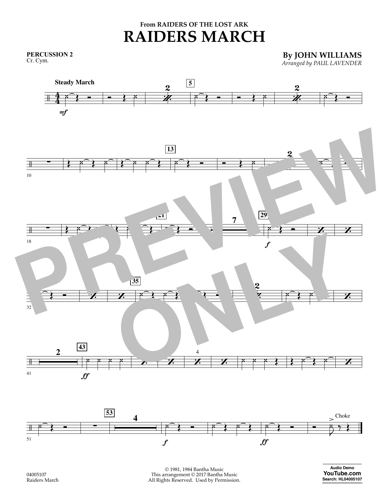 Raiders March - Percussion 2 (Concert Band: Flex-Band)