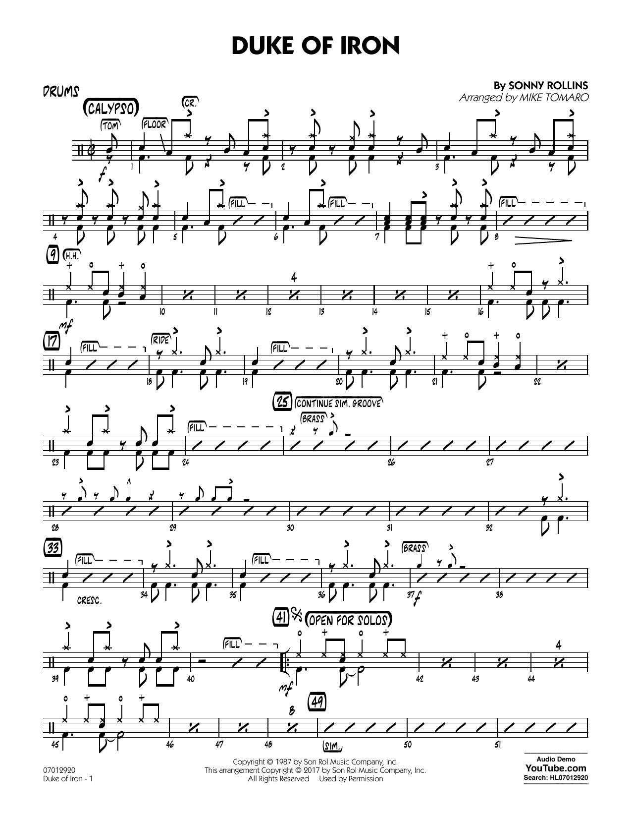 Duke Of Iron - Drums (Jazz Ensemble)