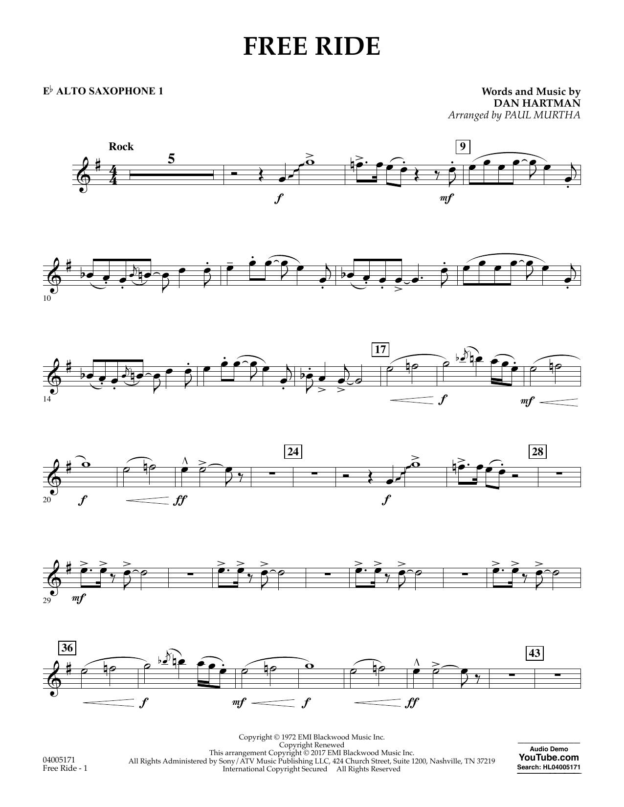 Free Ride - Eb Alto Saxophone 1 (Concert Band)