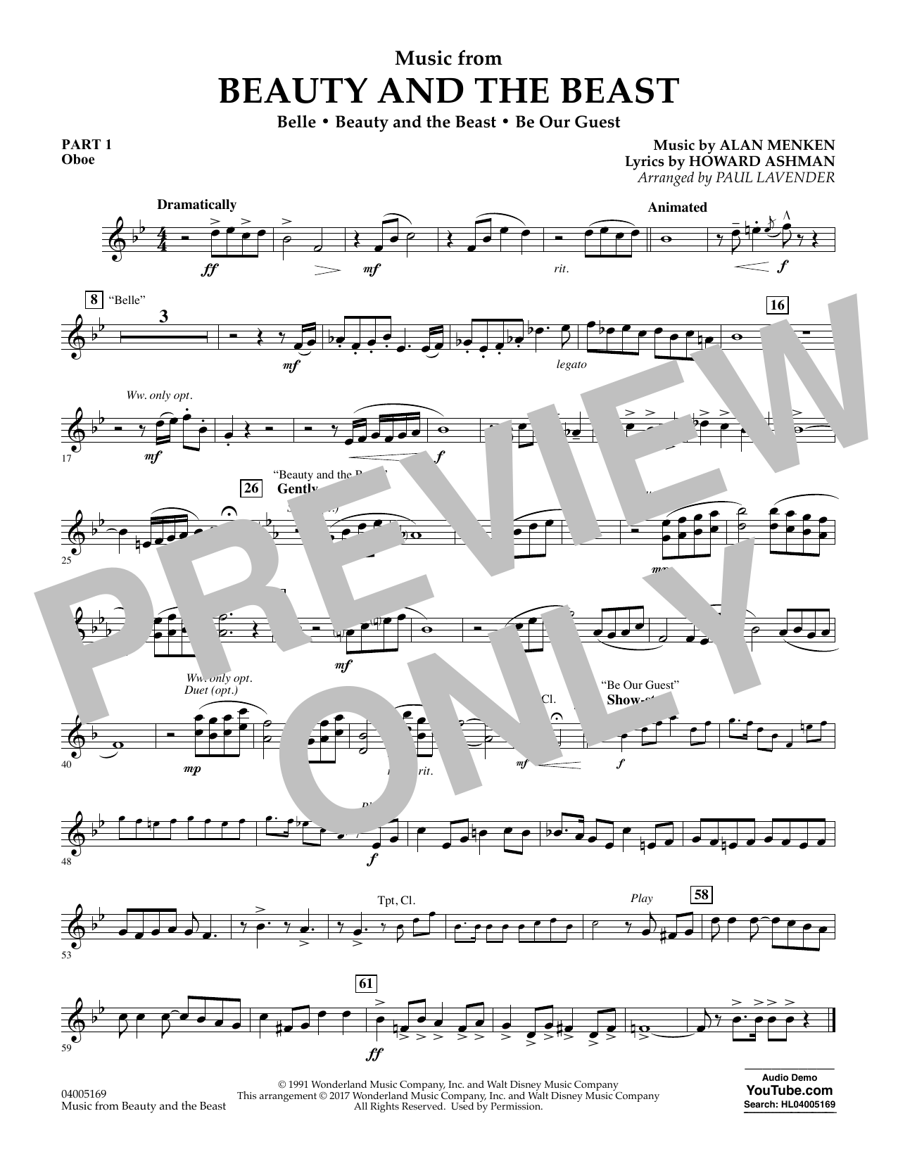 Music from Beauty and the Beast - Pt.1 - Oboe (Flex-Band)