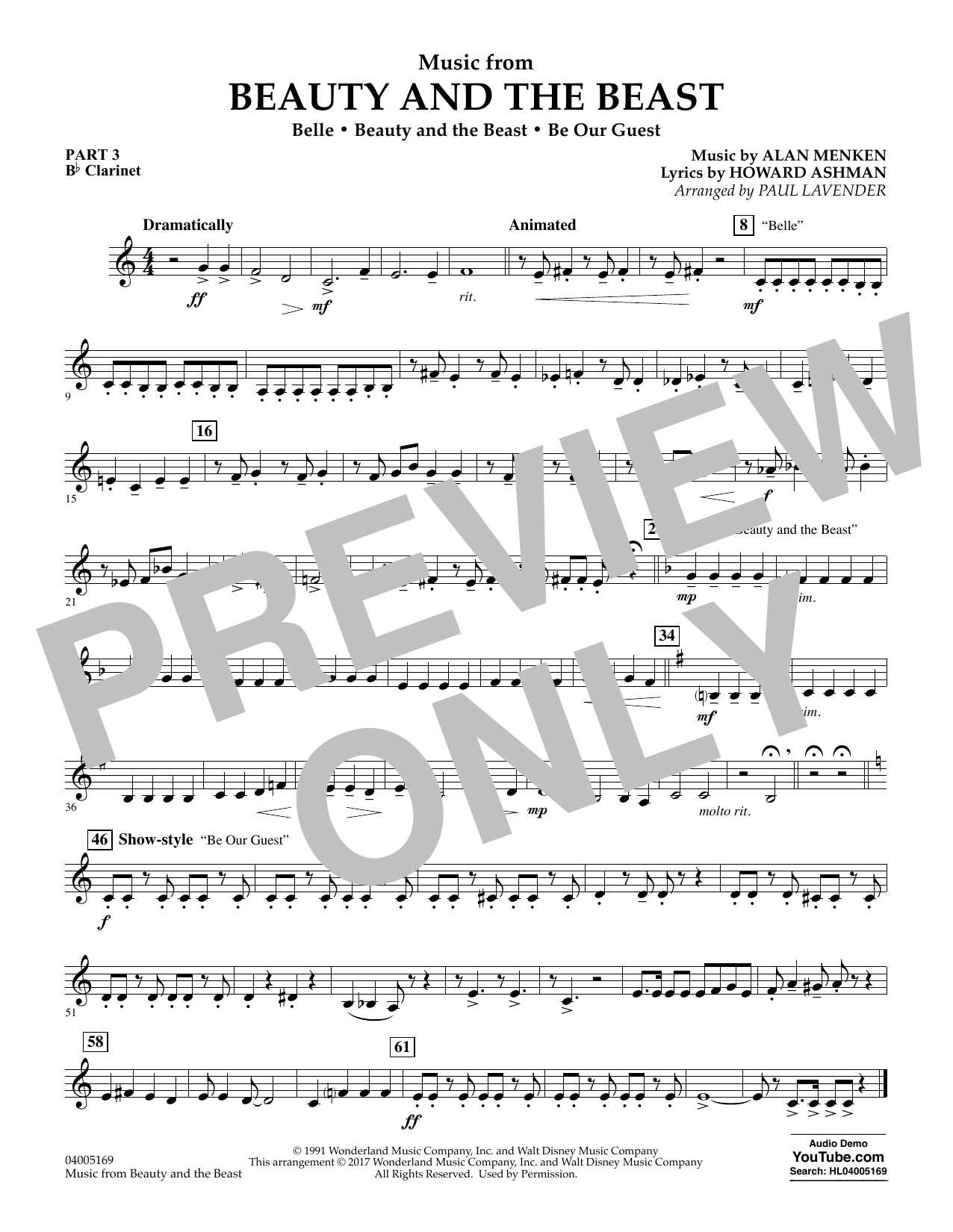 Music from Beauty and the Beast - Pt.3 - Bb Clarinet (Flex-Band)