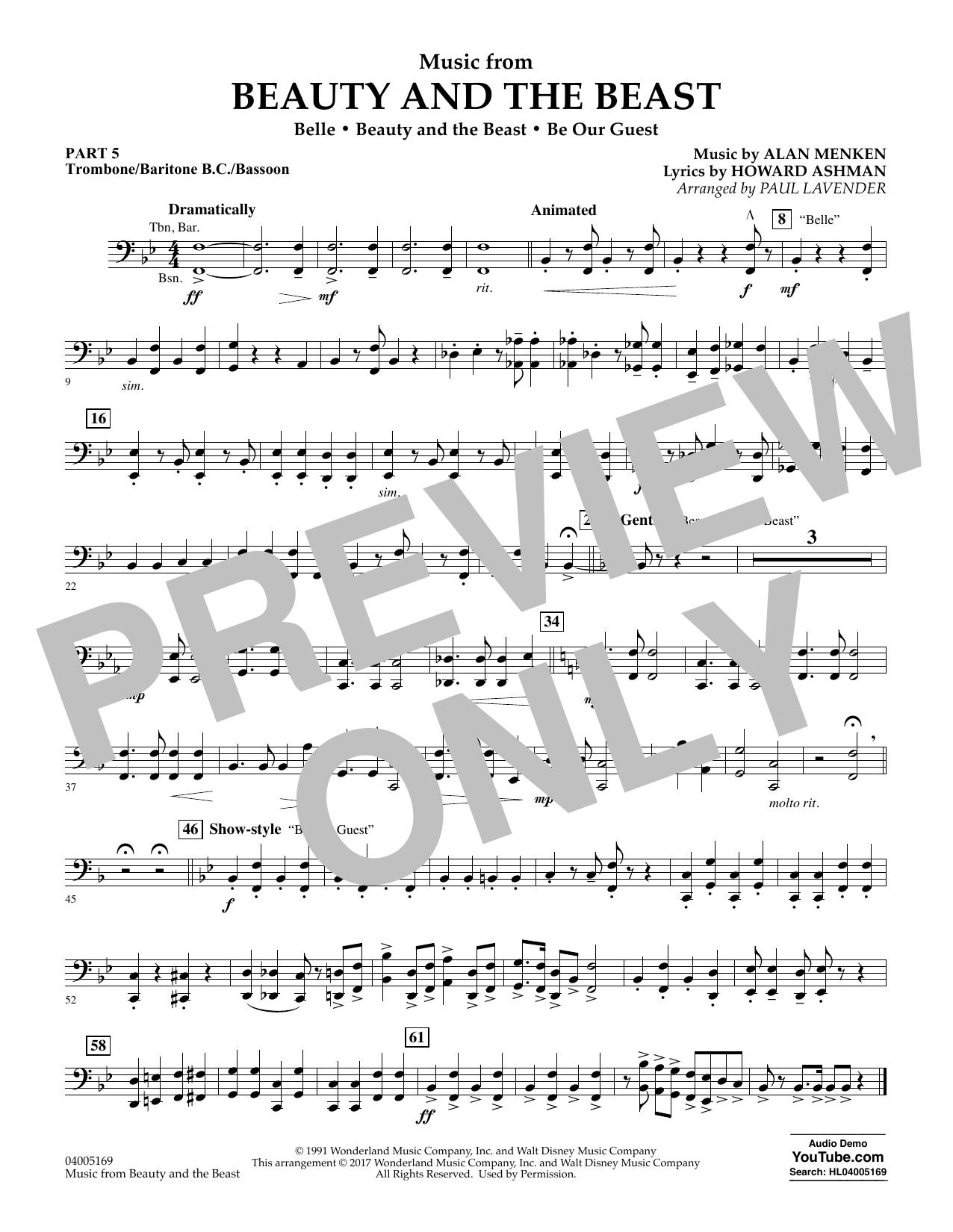 Music from Beauty and the Beast - Pt.5 - Trombone/Bar. B.C./Bsn. (Flex-Band)