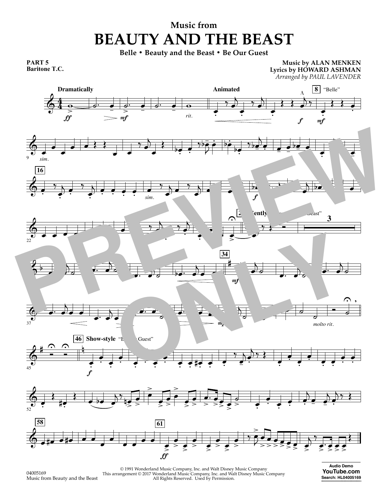 Music from Beauty and the Beast - Pt.5 - Baritone T.C. (Flex-Band)