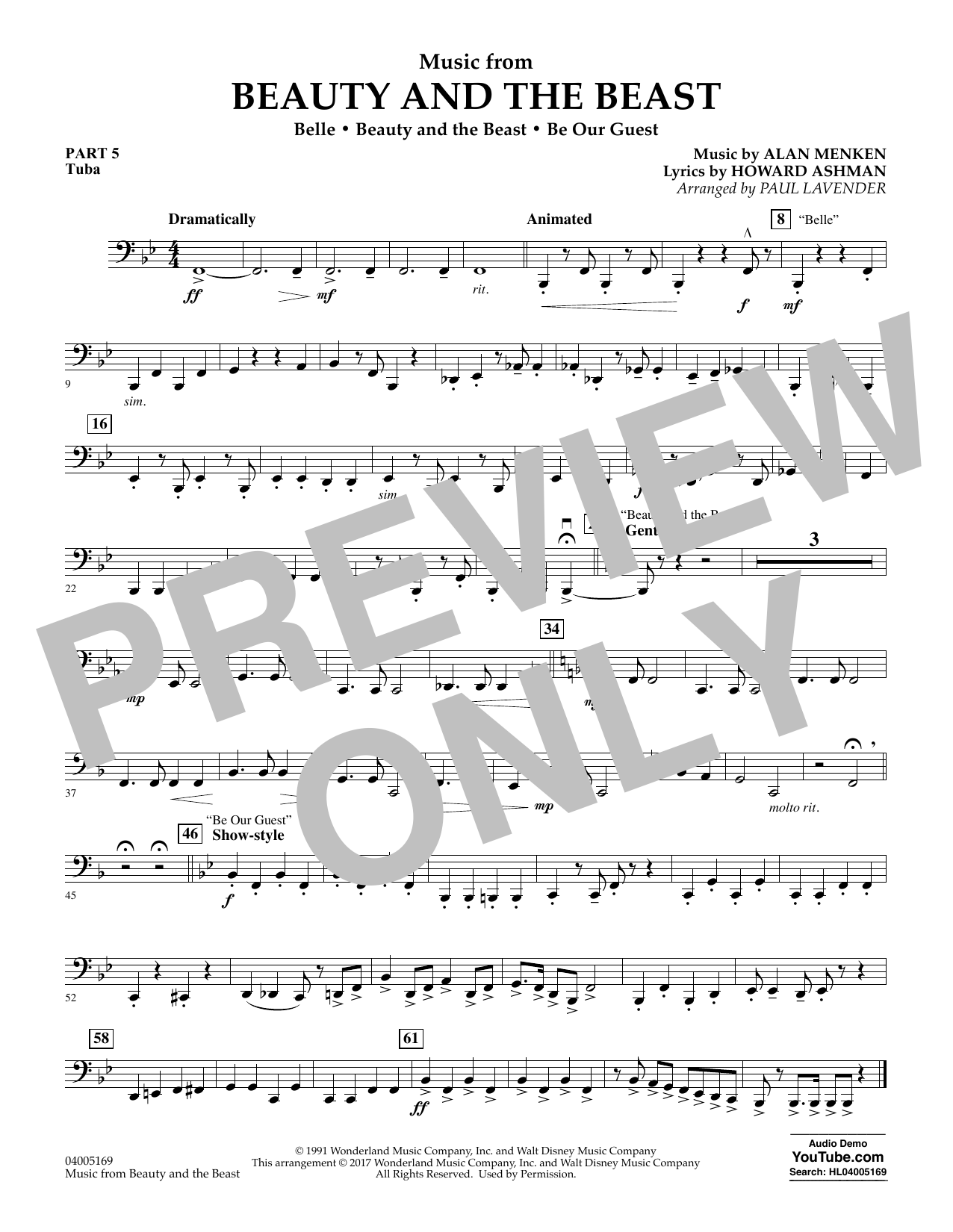 Music from Beauty and the Beast - Pt.5 - Tuba (Flex-Band)