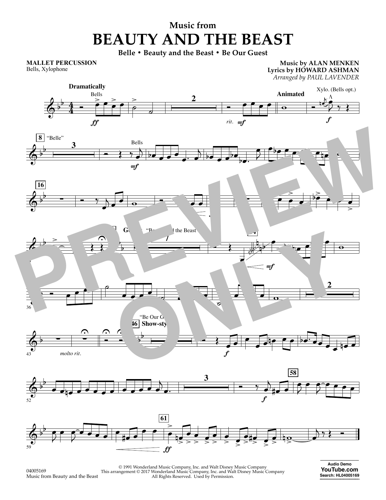 Music from Beauty and the Beast - Mallet Percussion (Flex-Band)