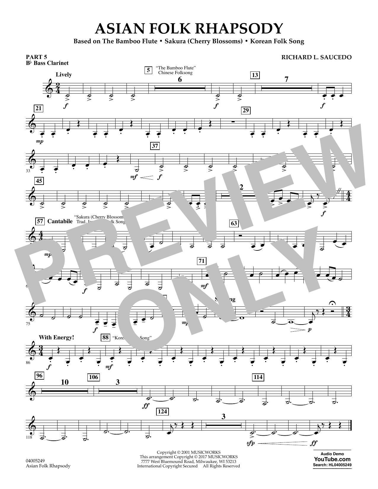 Asian Folk Rhapsody - Pt.5 - Bb Bass Clarinet (Flex-Band)