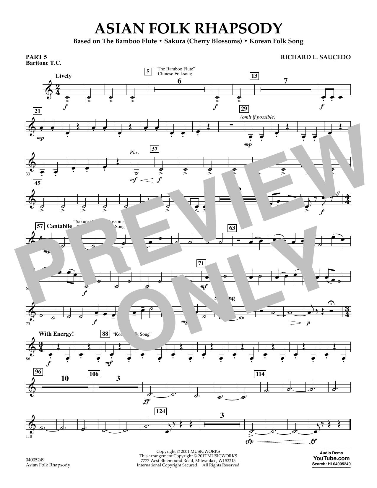 Asian Folk Rhapsody - Pt.5 - Baritone T.C. (Flex-Band)