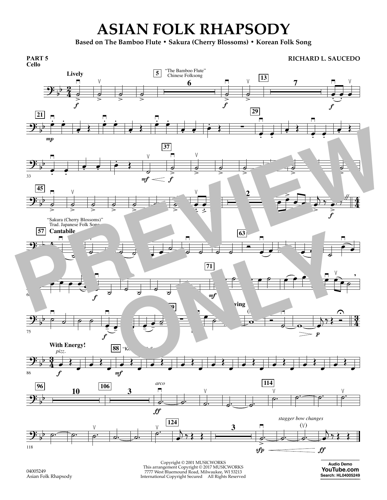 Asian Folk Rhapsody - Pt.5 - Cello (Flex-Band)