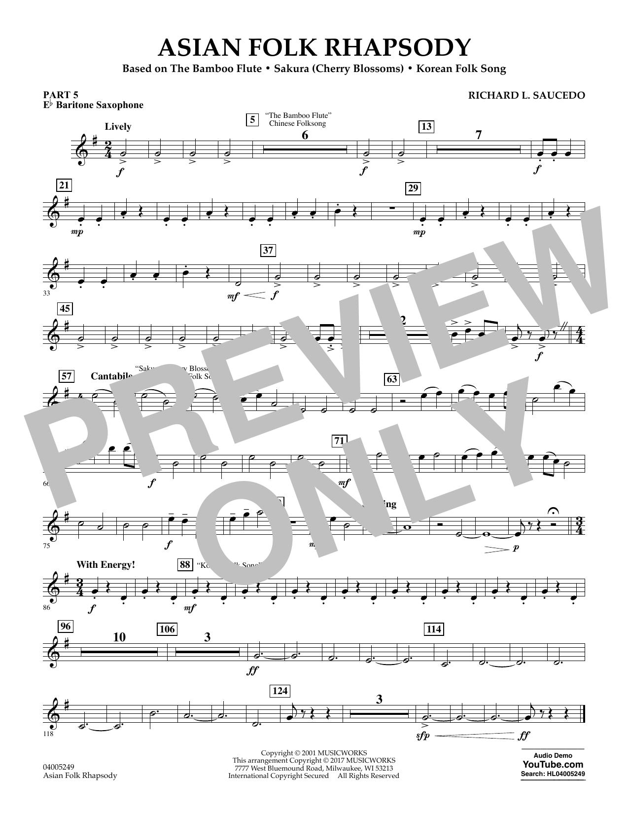 Asian Folk Rhapsody - Pt.5 - Eb Baritone Saxophone (Flex-Band)
