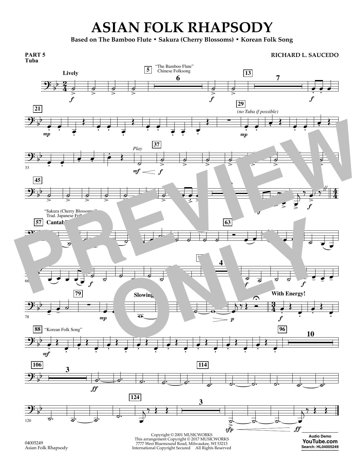 Asian Folk Rhapsody - Pt.5 - Tuba (Flex-Band)
