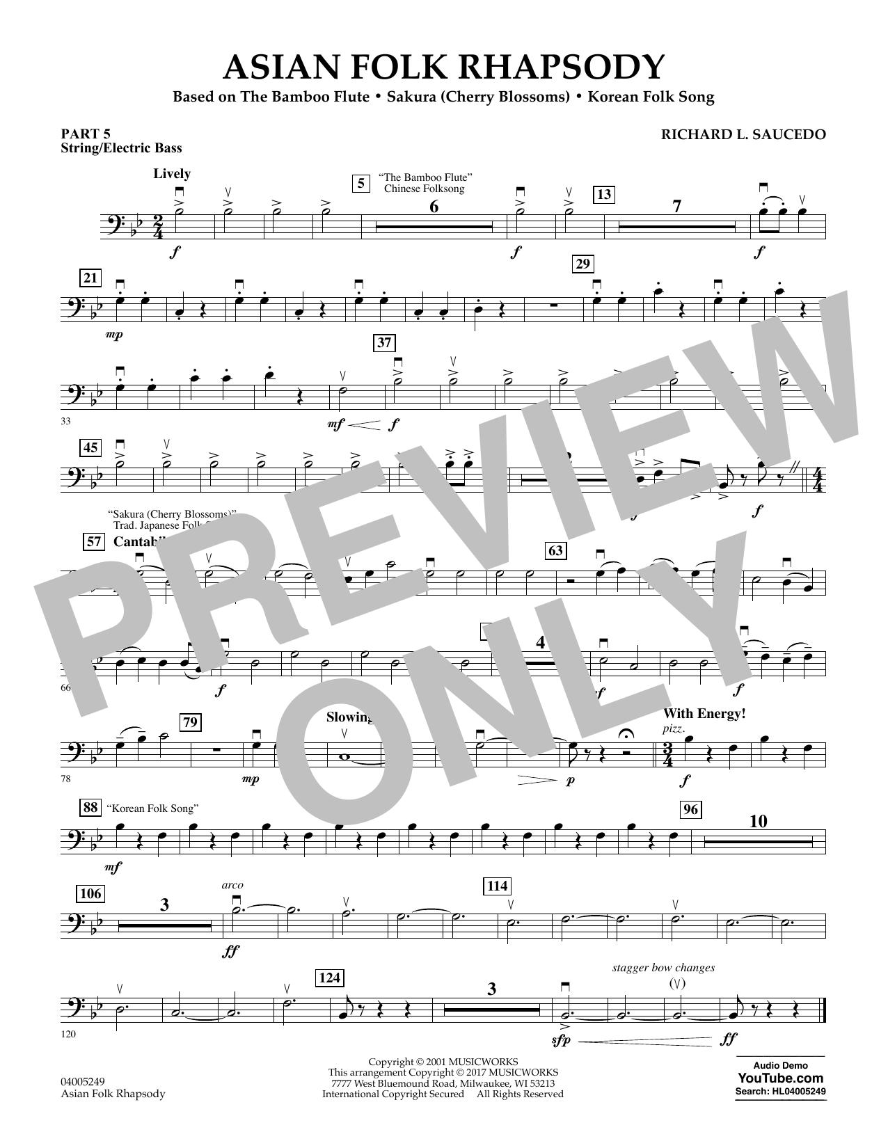 Asian Folk Rhapsody - Pt.5 - String/Electric Bass (Flex-Band)