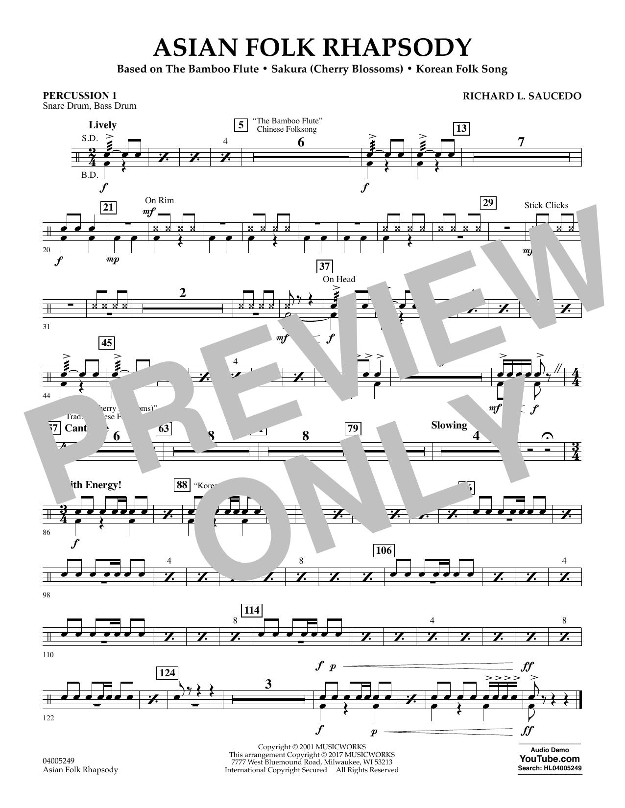 Asian Folk Rhapsody - Percussion 1 (Concert Band: Flex-Band)