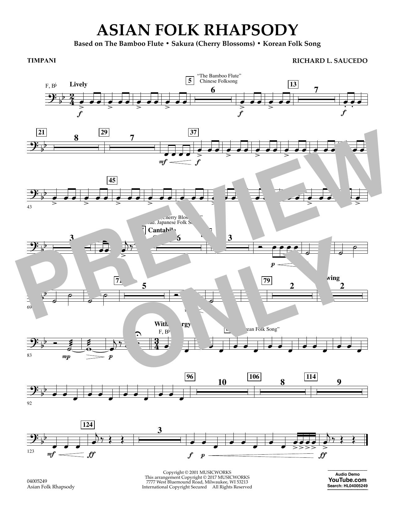 Asian Folk Rhapsody - Timpani (Flex-Band)