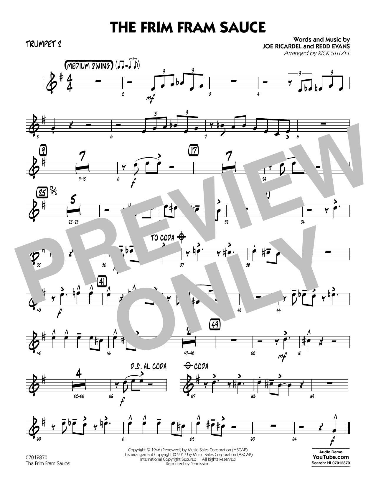 The Frim Fram Sauce (Key: F) - Trumpet 2 (Jazz Ensemble)