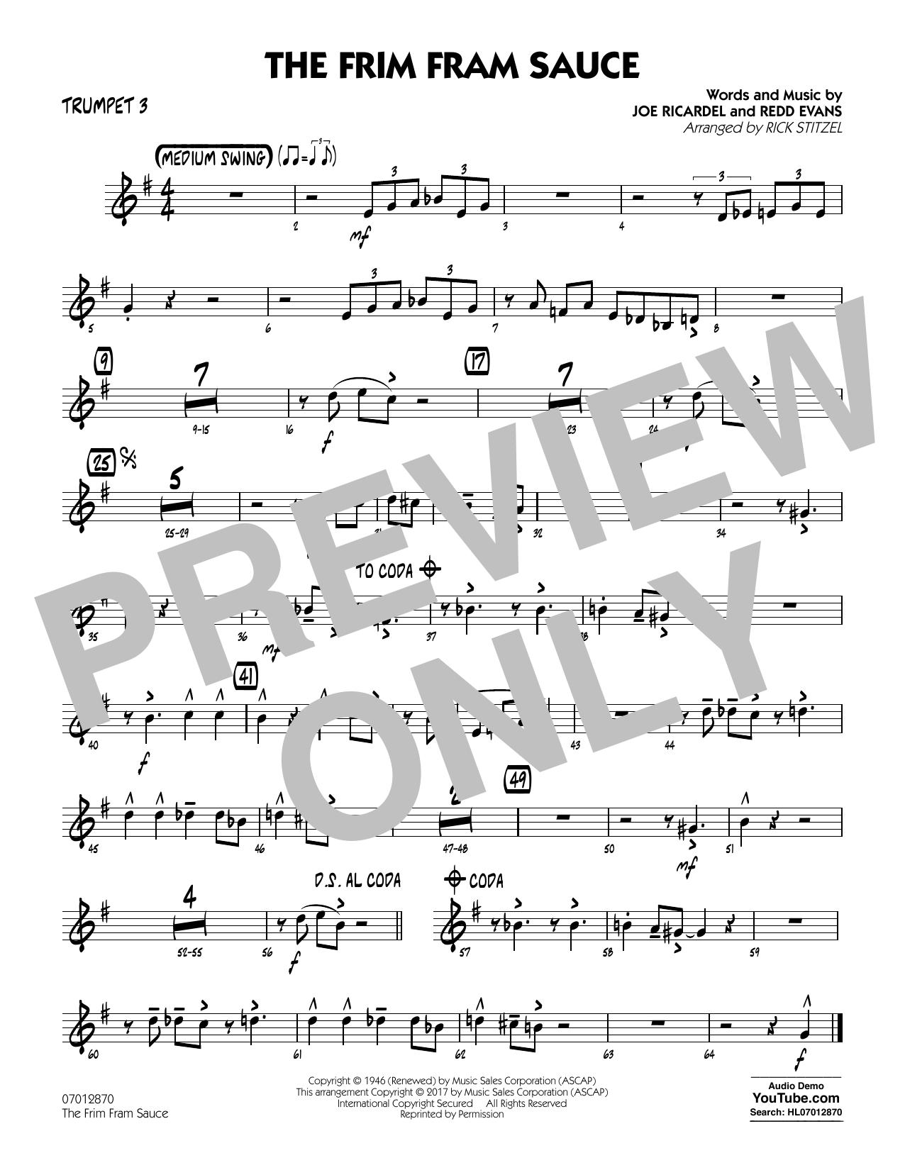 The Frim Fram Sauce (Key: F) - Trumpet 3 (Jazz Ensemble)