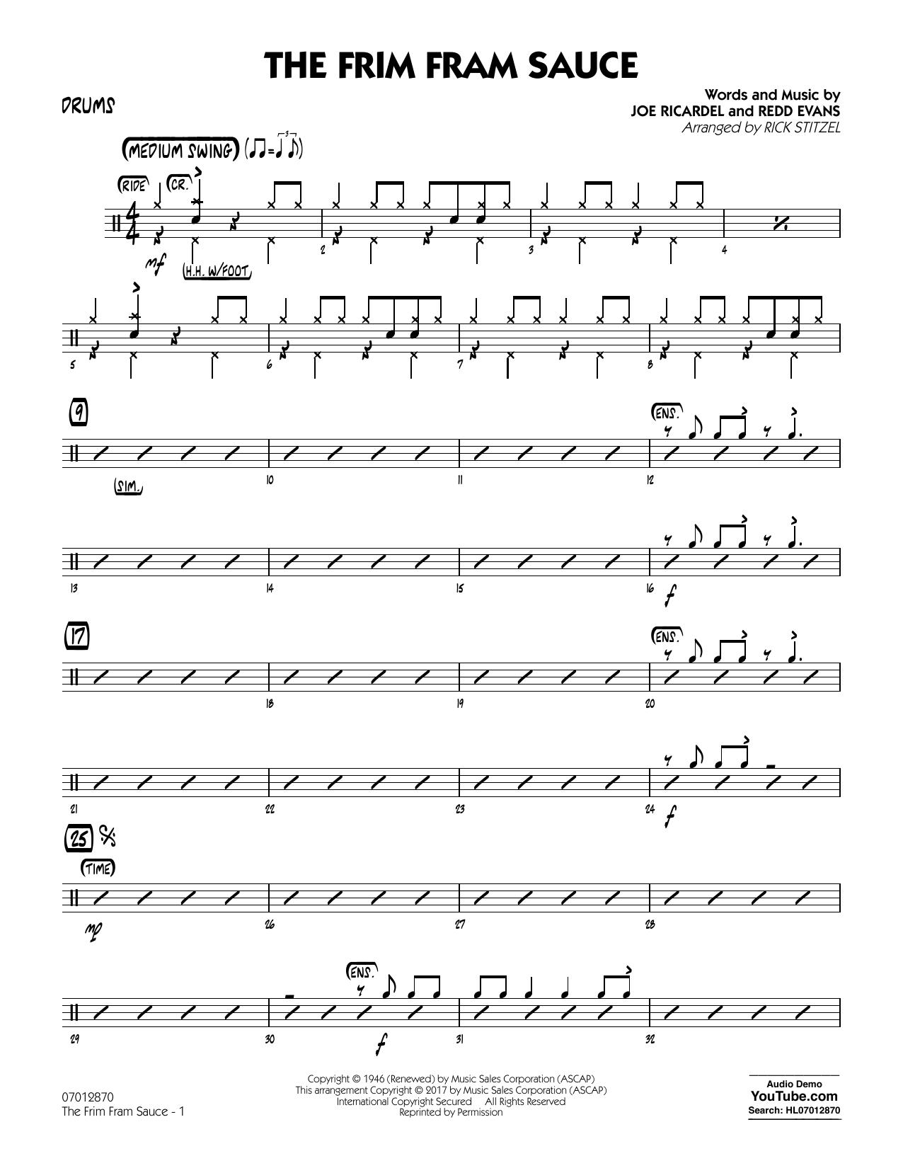 The Frim Fram Sauce (Key: F) - Drums (Jazz Ensemble)
