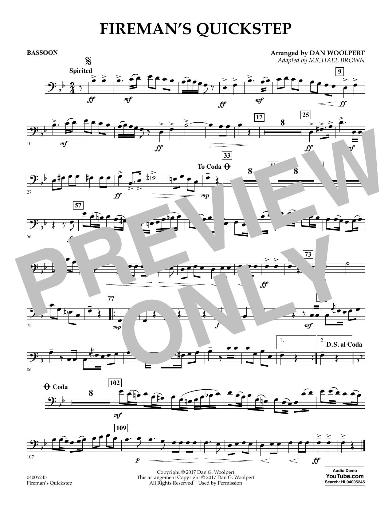 Fireman's Quickstep - Bassoon (Concert Band)