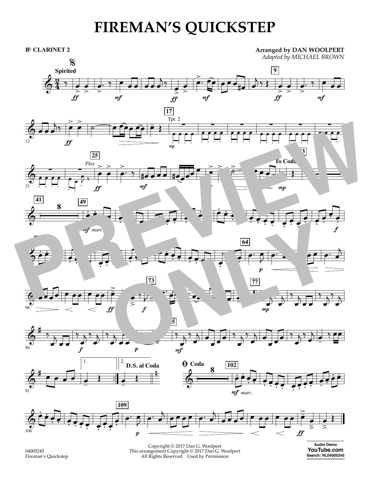 Fireman's Quickstep - Bb Clarinet 2 (Concert Band)
