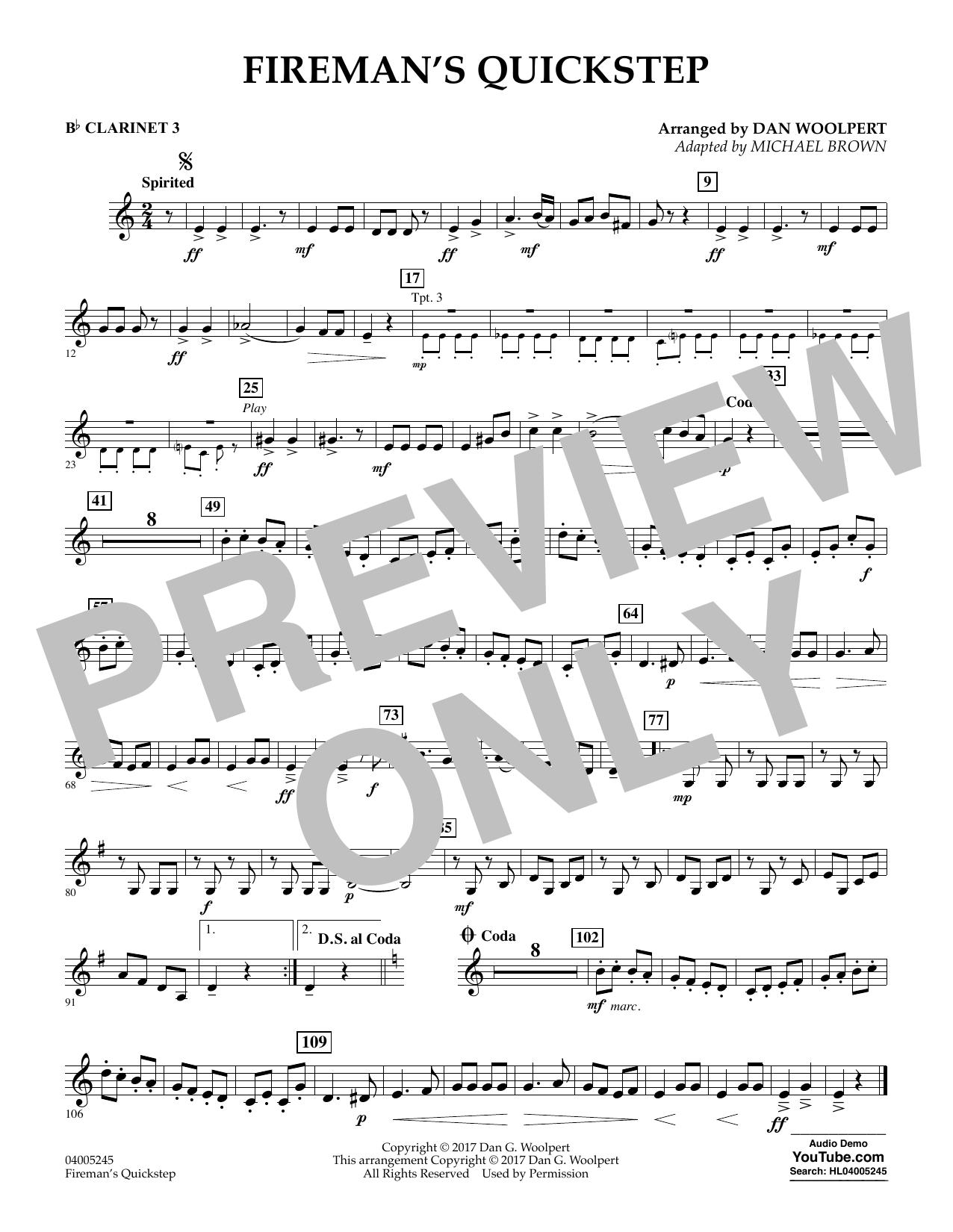 Fireman's Quickstep - Bb Clarinet 3 (Concert Band)