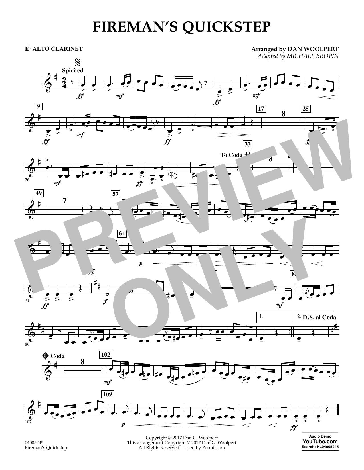 Fireman's Quickstep - Eb Alto Clarinet (Concert Band)