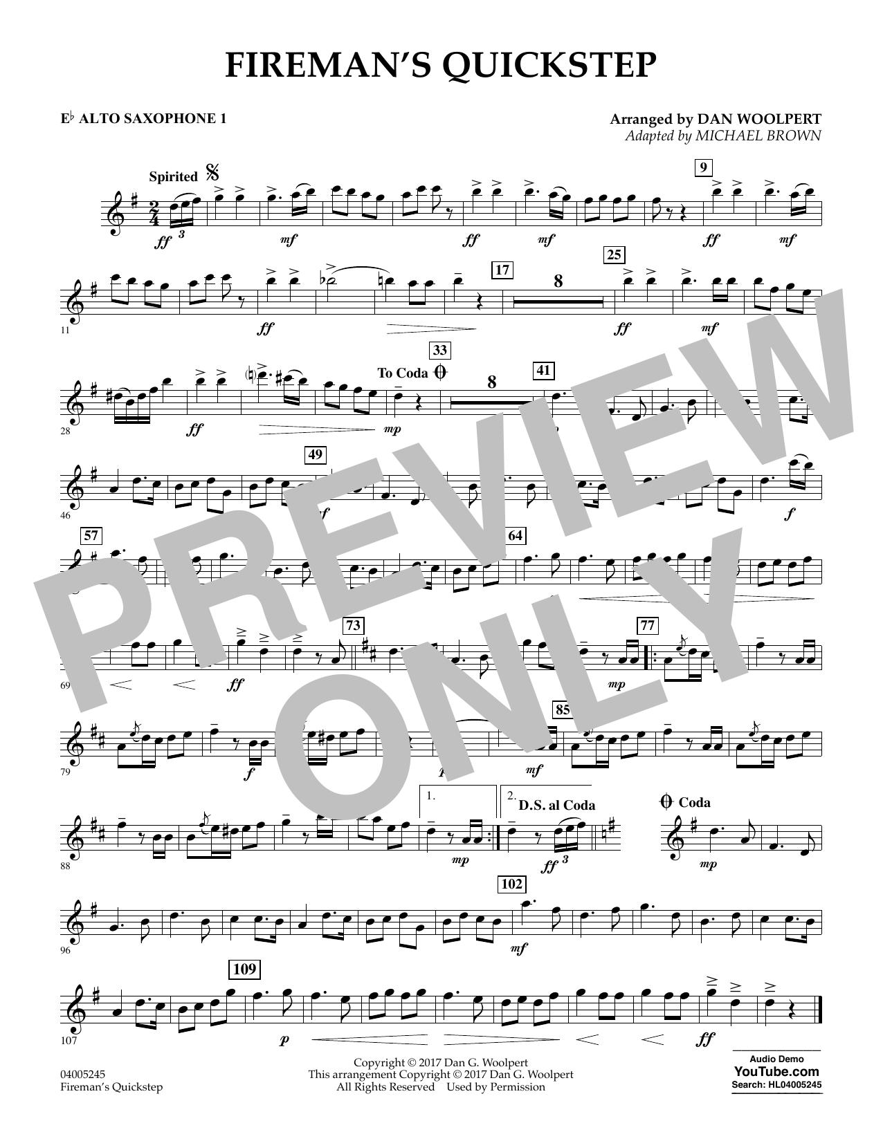 Fireman's Quickstep - Eb Alto Saxophone 1 (Concert Band)