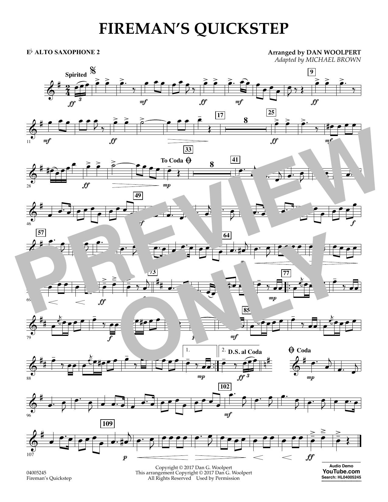Fireman's Quickstep - Eb Alto Saxophone 2 (Concert Band)