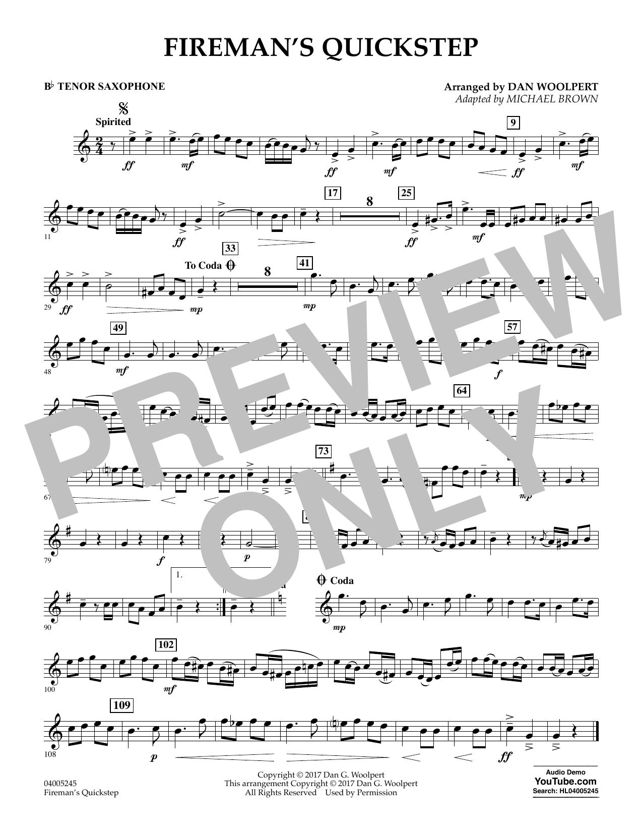 Fireman's Quickstep - Bb Tenor Saxophone (Concert Band)
