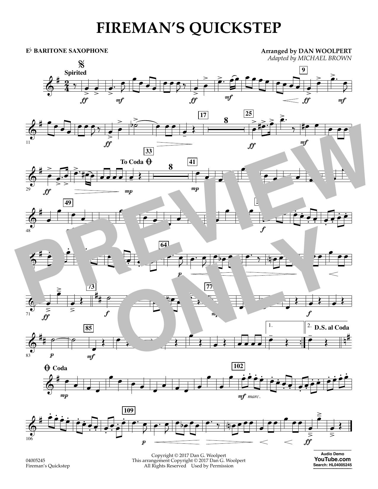 Fireman's Quickstep - Eb Baritone Saxophone (Concert Band)