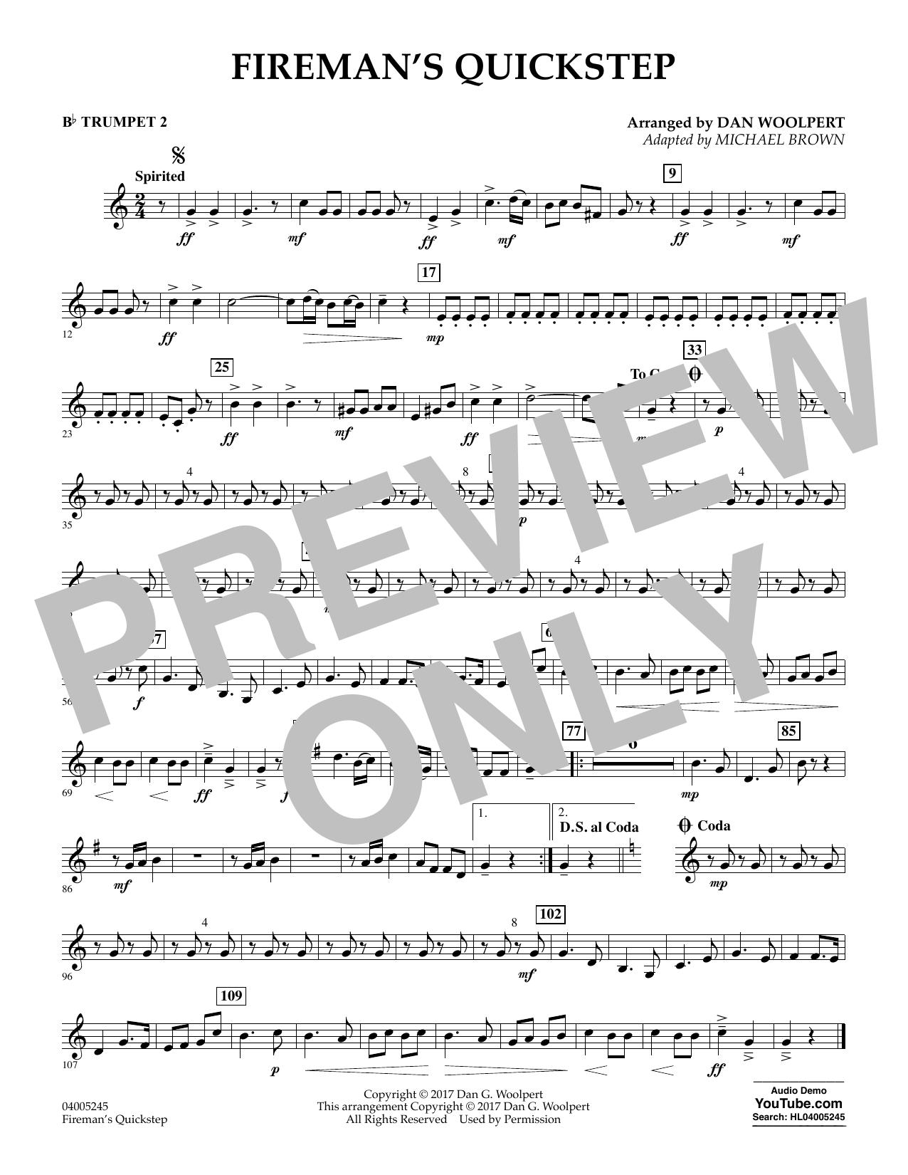 Fireman's Quickstep - Bb Trumpet 2 (Concert Band)